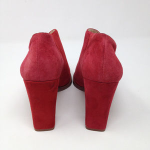 d9e342151439 Vince Camuto Shoes - Vince Camuto Loretan Red Suede Heeled Booties 8.5